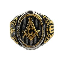 harga Freemason Ring Salomo Temple Logo Gold Iluminati Ring Masonic Tokopedia.com