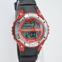 Jam Tangan Wanita iGear Original Rubber Black Red (Garansi 1th)