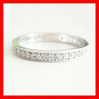 Cincin Full Mata CW113 Perhiasan Silver Perak 925 Lapis Emas Asli