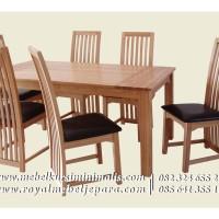 Kursi Meja Makan, Jual Meja Makan, Kayu Jati dan Kayu Mahogany Solid
