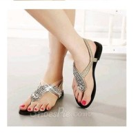 harga Sandal Jepit Lucu Sancu Untuk Wanita Kulit Flat Cantik Pesta Murah Ori Tokopedia.com
