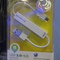 USB Hub 2.0 + Kabel Data Micro USB + Charger Micro USB