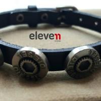 Premium Bracelet Diesel Brand Leather Stanless Steel + BOX