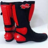 harga sepatu road race touring gordon's hitam merah Tokopedia.com