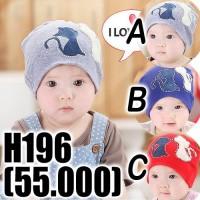 Kupluk anak bayi gambar kucing lucu imut Beanie Loving cat Hat H196
