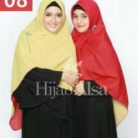 Hijab Alsa Sella 08 Jilbab Segiempat Dua Warna Bolak-balik
