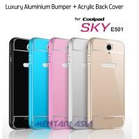 harga Luxury Aluminium Bumper + ACRYLIC Back Cover for Coolpad SKY E501 Tokopedia.com