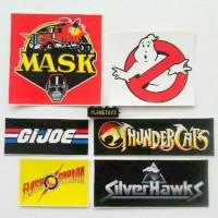 Stiker set jadul ( mask, ghosbuster, silverhawk, dll)