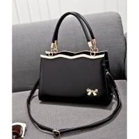 tas tangan kempit bahu handbag bisa selempang hitam putih high quality