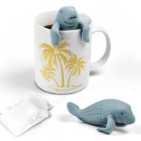 Jual tea bag infuser saringan teh unik bentuk singa laut manatee Murah