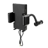 FM Transmitter with Holder and 3.5mm Audio Cable - Black