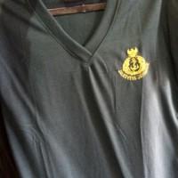 Kaos polos vneck logo TNI AL