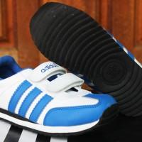 Sepatu Anak Adidas LA Trainer Kids Putih Biru (Sekolah,Balita,Running)