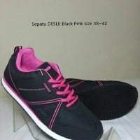 Sepatu DESLE Olivia Black Pink size 38-42