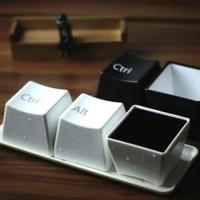 Keyboard Cup Set Ctrl+Alt+Del | Coffee & Tea Mug / Cup
