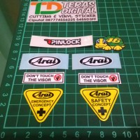 Sticker Visor Helm Arai / Kaca Helm Helmet