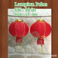 ( 2 Buah ) Lampion / Lampion Imlek Polos Isi : 2 ( Ukuran 8 In )