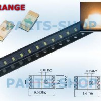 SMD LED 0603 ORANGE SUPER BRIGHT NYALA WARNA JINGGA