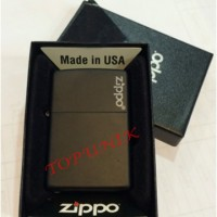 Zippo Original Lighter 218ZL Black Matte Logo