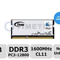Memory Ram Laptop Team SODIMM DDR3 PC12800 8GB For Mac 1.35V