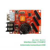 Upgrated P Led Display Control Card Running Text Moving 48*1024 AB85