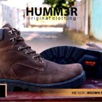 Sepatu humm3r meteor brown sued