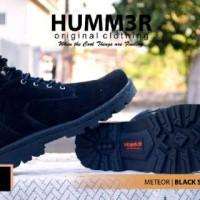 Sepatu humm3r meteor black sued