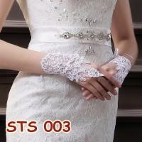 Jual Sarung Tangan Lace Brokat Pengantin Modern l Aksesoris Wedding-STS 003 Murah