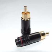 Konektor jek connector RCA male berkualitas tinggi jack audio video
