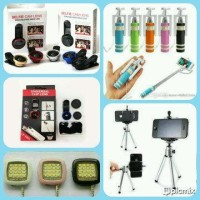 Jual paket selfie tongsis, flash selfie, tripod mini, fish eye, super wide Murah
