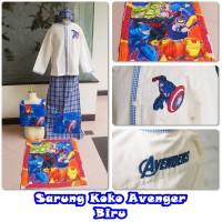 Sarung Dan Baju Koko Set Size Xs (2-3th) Cars,spider,avenger,transfor