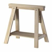 IKEA FINNVARD, Penyangga dgn rak, kayu birch, 70x71/93 cm, 1pcs