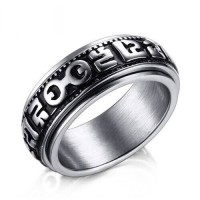 Cincin Stainless Steel Pria Rotateable