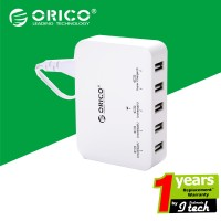 harga Orico Dcap-5s-wh 40w 5 Port Family Size Desktop Usb Wall Charger Power Tokopedia.com