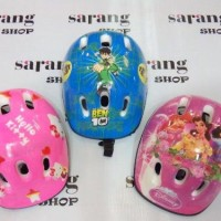 Helm Sepeda Anak gambar Hello Kitty, Princes, ben 10, Spiderman