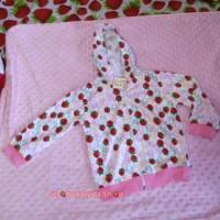 jaket anak strawberry pink