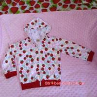 jaket anak strawberry merah
