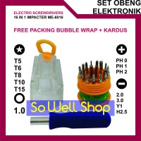 harga Obeng Elektronik Handphone 16 In 1 Precise Manual Tool Set Tokopedia.com