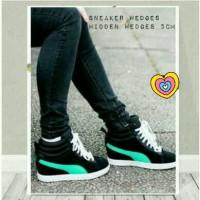 harga Sneaker Wedges Puma Black Tosca Tokopedia.com