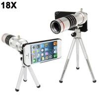 Mobile Phone Telescope Lens 18X Optical Zoom Tripod IPhone 5/5s Silver