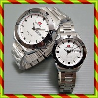 Swiss Army Couple Infinite Silverwhite  / Jam Tangan Rolex Swiss Army
