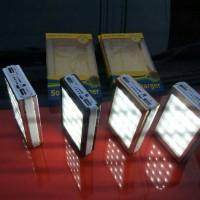 Jual POWERBANK SOLAR CELL WITH 20 LAMPU LED/SOLAR CELL/XIAOMI/SAMSUNG/APPLE Murah