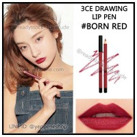 3CE DRAWING LIP PEN #BORN RED / #CRUSH ON YOU / #CHILLING *READY JAKARTA