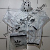 Best Seller - Jas Hujan Adidas Transparan / Raincoat Adidas