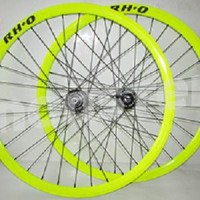 1set Wheelset Rh+O Hub Rh+O 32H Green/Black
