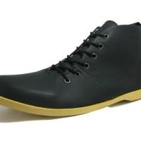 Dalmo Shoes Hitam sol Gold