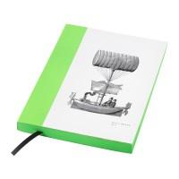 IKEA HISTORISK Buku Tulis 15x20 Cm, Hijau, 140 Lembar Tidak Bergaris