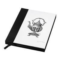 IKEA HISTORISK Buku Tulis 15x20 Cm, Hitam, 140 Lembar Tidak Bergaris