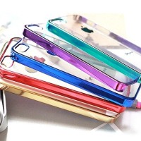 CLEAR METAL CASE/CASING HP IPHONE 4/4S/5/5S/6
