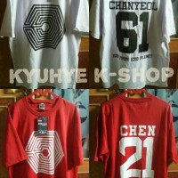 Tshirt Kaos Overdose Exo Chen Chanyeol Luhan Sehun Baekhyun Custom